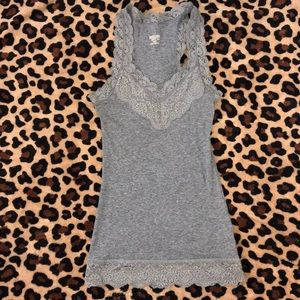 grey lace mossimo supply tank top